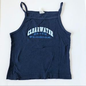 Clearwater Beach Florida Blue Tank Top